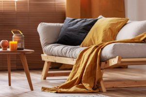 how to make a futon more comfortable